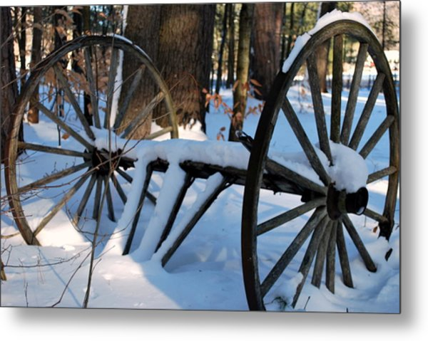 Still Wheels Metal Print