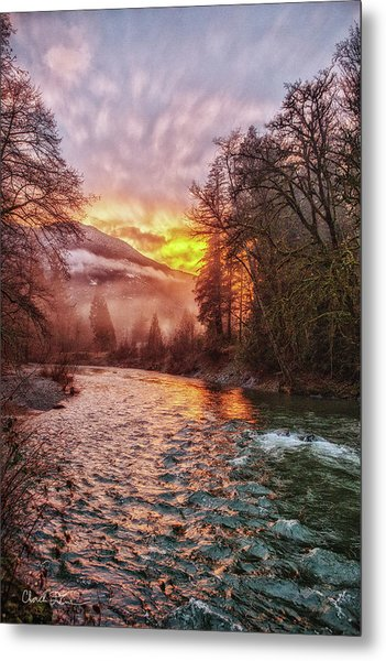 Stilly Sunset Metal Print