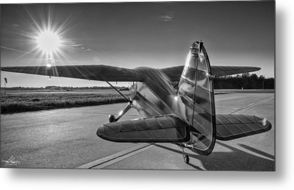 Stinson On The Ramp Metal Print