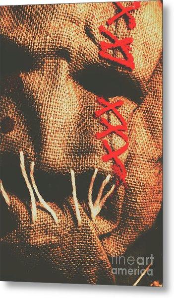 Stitched Up Madness Metal Print