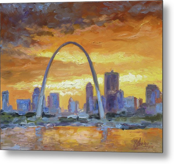 St.louis Arch - Sunset Metal Print