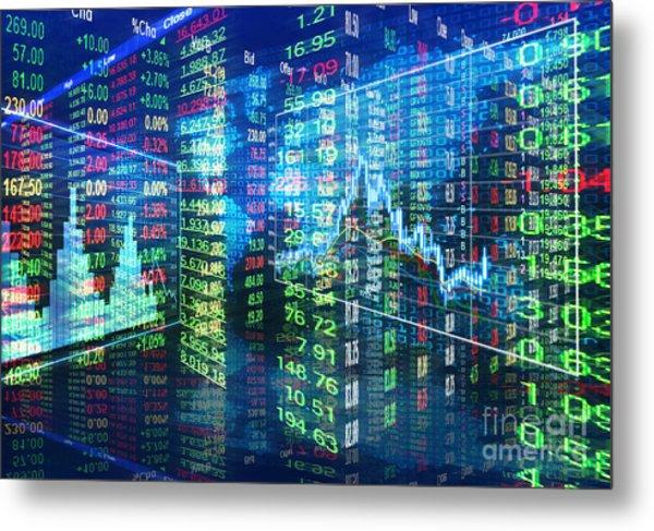 Stock Market Concept Metal Print
