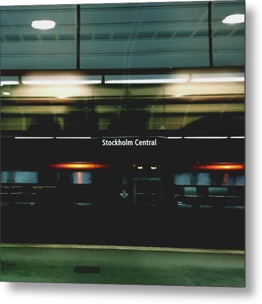 Stockholm Central- Photograph By Linda Woods Metal Print