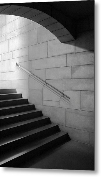 Stone And Steps Metal Print by Donald Schwartz