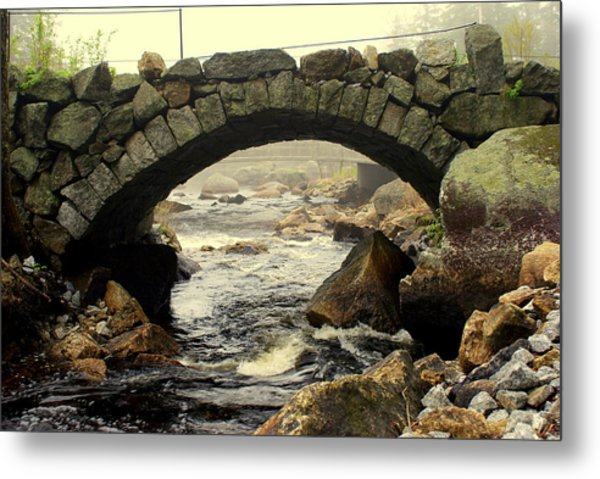 Stone Arch Up Close Metal Print by Lois Lepisto