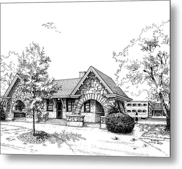Stone Ave. Train Station Metal Print