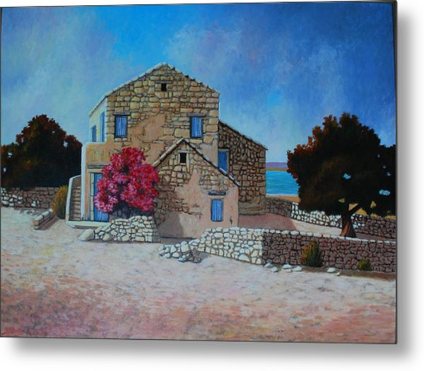 Stone House On The Beach Metal Print by Santo De Vita