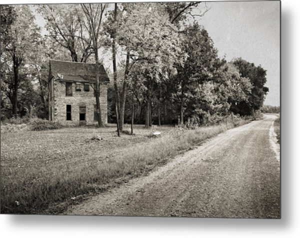 Stone House Road Metal Print
