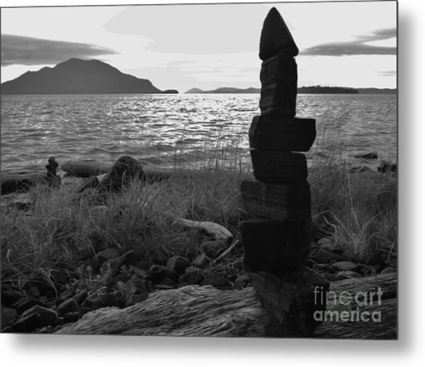 Metal Print featuring the photograph Stone Pile by Laura  Wong-Rose