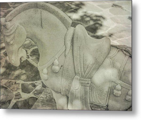 Stone Power Metal Print by Dressage Design