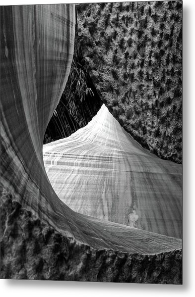 Metal Print featuring the photograph Stone Sculpture Abstract by Rand
