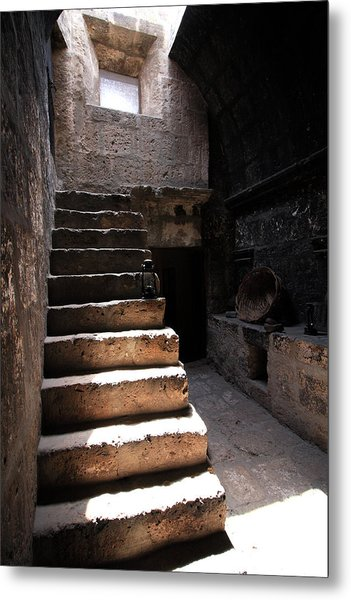 Stone Stairs At Santa Catalina Monastery Metal Print