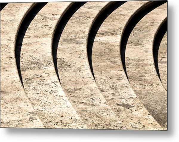 Stone Steps Rome Italy Metal Print by Xavier Cardell