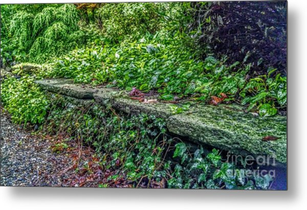 Stone Wall At Laurelwood Metal Print