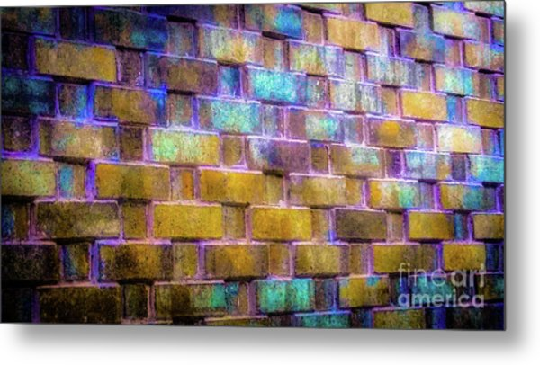 Brick Wall In Abstract 499 Metal Print
