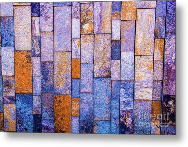 Stone Wall In Abstract 543 Metal Print