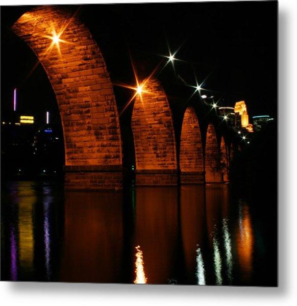 Stonearch Bridge - Minneapolis Metal Print