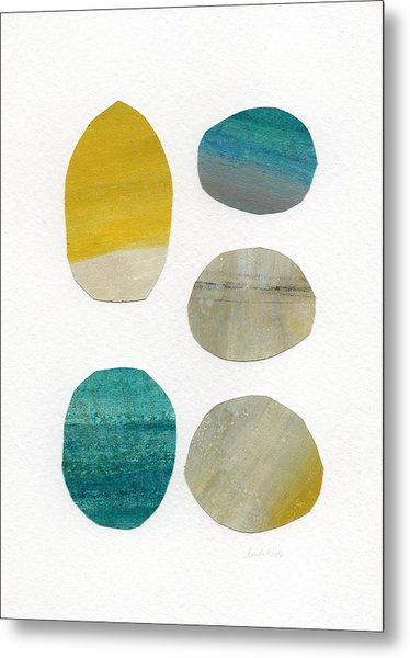Stones- Abstract Art Metal Print