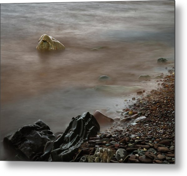 Stones On The Shore Of Lake Superior Metal Print