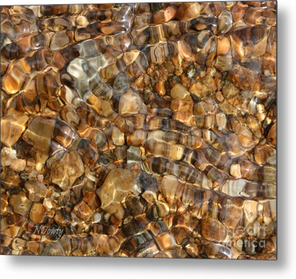 Stones Through Ripples Metal Print