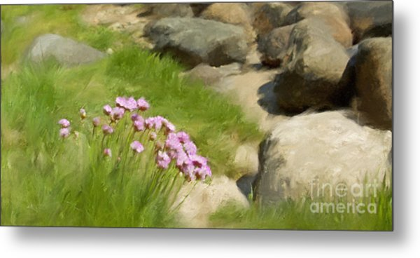 Stony Beach Impression Metal Print by Lutz Baar