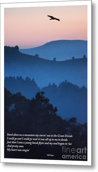Stood Alone On The Mountain Top Metal Print