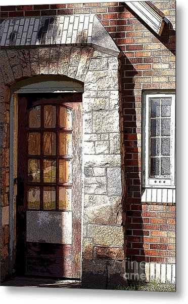Storage Door Metal Print
