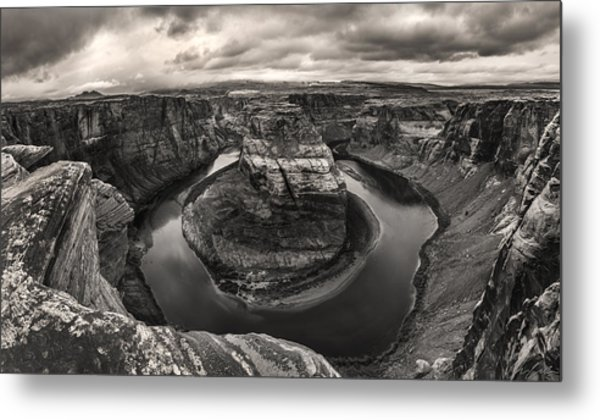 Storm At Horseshoe Bend Metal Print