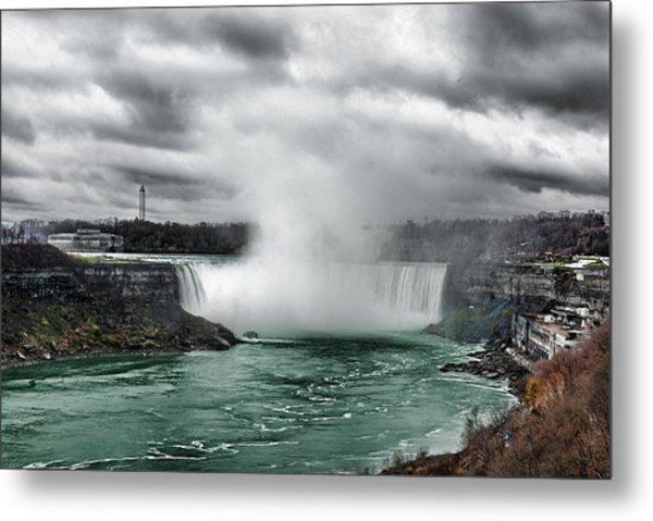 Storm At Niagara Metal Print