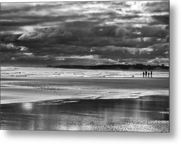 Metal Print featuring the photograph Storm Beach by Adrian Pym