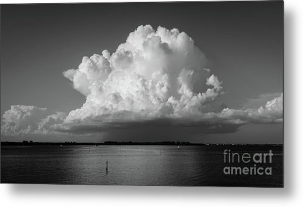Metal Print featuring the photograph Storm Cloud On The Horizon by Edward Fielding