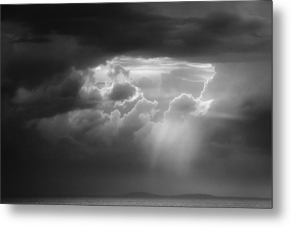 Metal Print featuring the photograph Storm Clouds Clearing by Michael Hubley