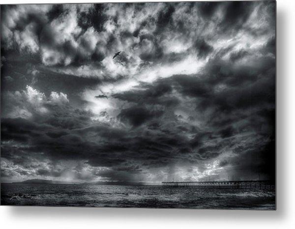 Storm Clouds Ventura Ca Pier Metal Print