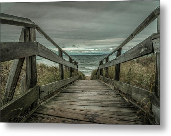 Metal Print featuring the photograph Storm Front On Lake Michigan by Owen Weber