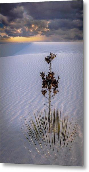 Storm Light At White Sands Metal Print
