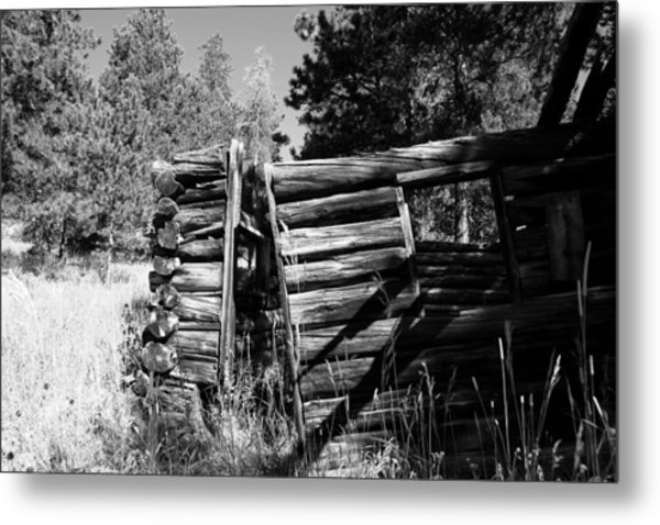 Storm Mountain Homestead Metal Print