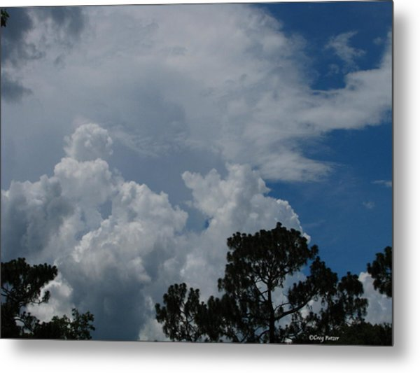 Storm Moving In Metal Print by Greg Patzer