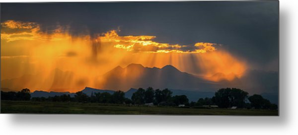 Storm Of Gold Metal Print