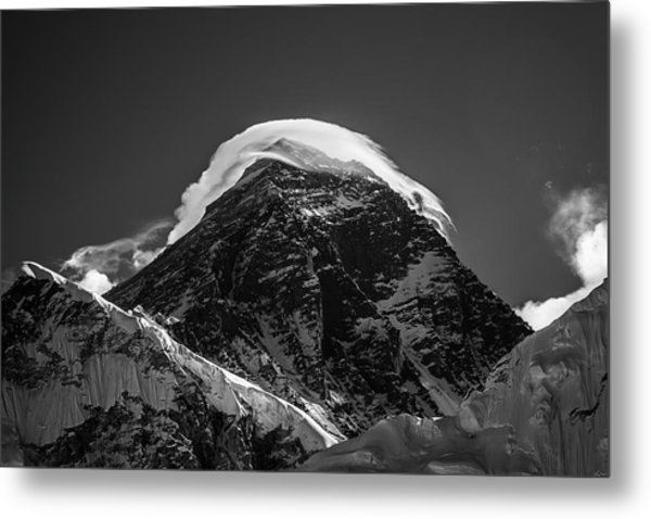 Metal Print featuring the photograph Storm On Everest by Owen Weber