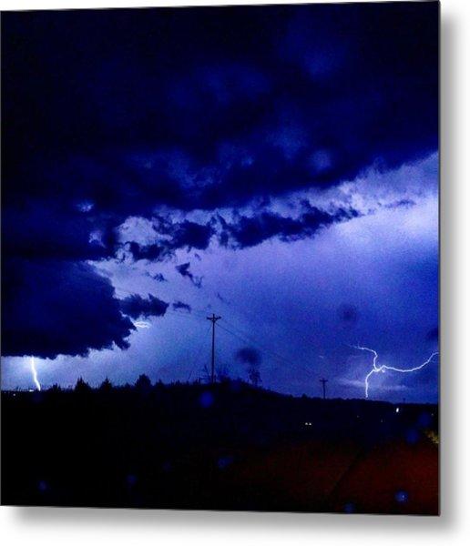 Storm On Farmer's Turnpike Metal Print