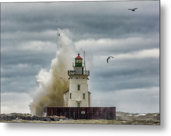 Storm On Lake Erie Metal Print