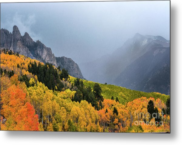Storm On Million Dollar Highway Metal Print