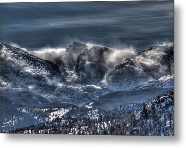 Storm On The Divide Metal Print