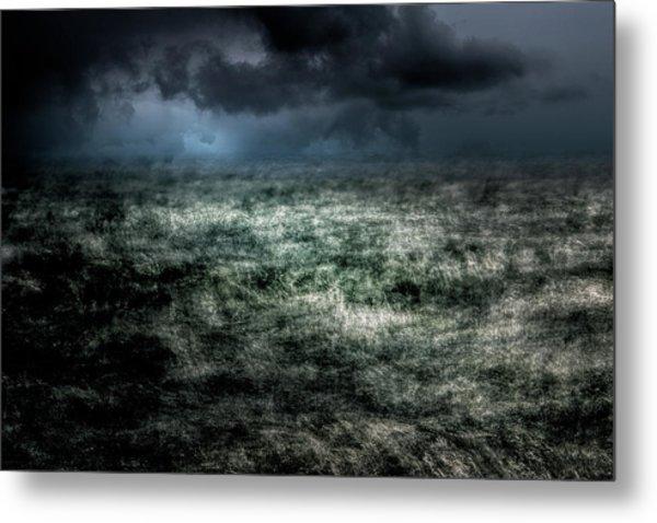 Storm On The Sound Metal Print