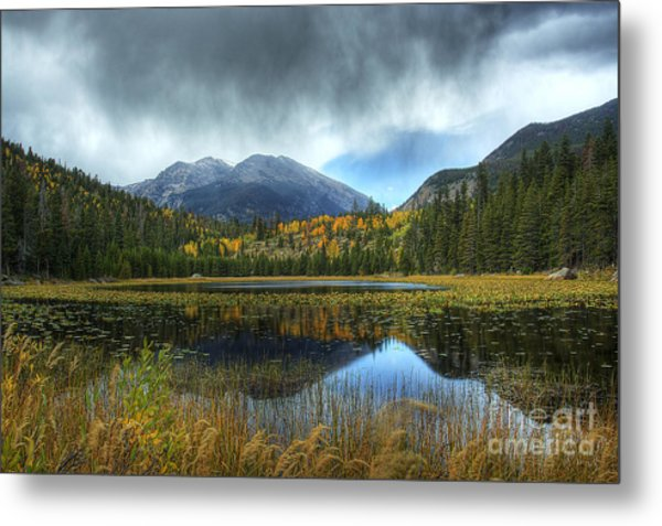 Storm Over Cub Lake Metal Print
