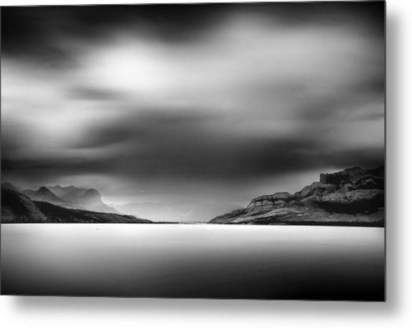 Storm Over Jasper Lake Metal Print