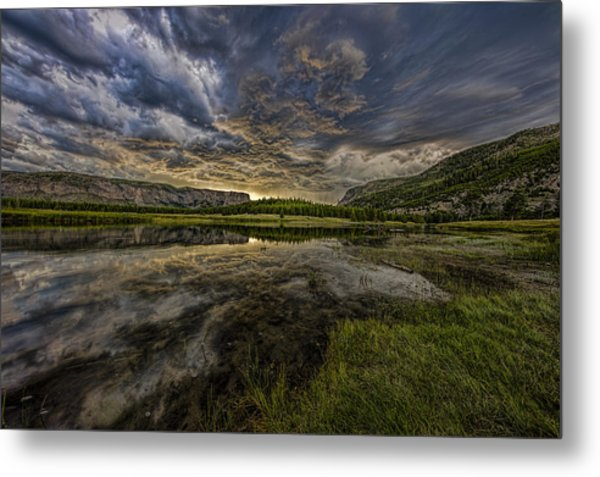 Storm Over Madison River Valley Metal Print