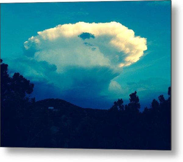 Storm Over Santa Fe Metal Print