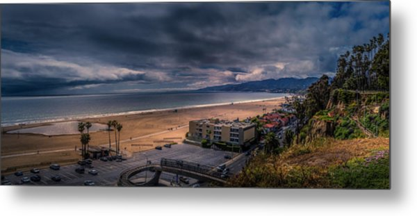 Storm Watch Over Malibu - Panarama  Metal Print