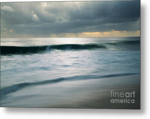 Stormcloud Over Keawaula Beach Metal Print